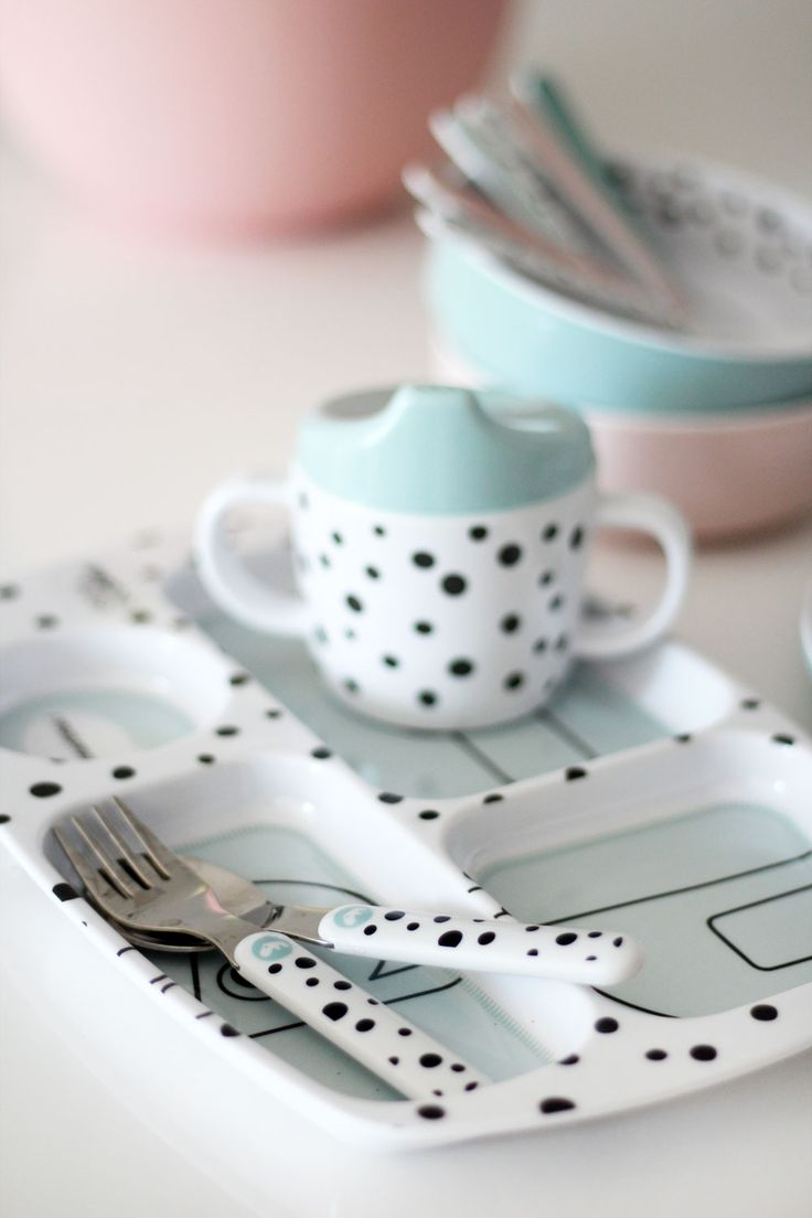 Happy dots kids tableware for excited little eaters.