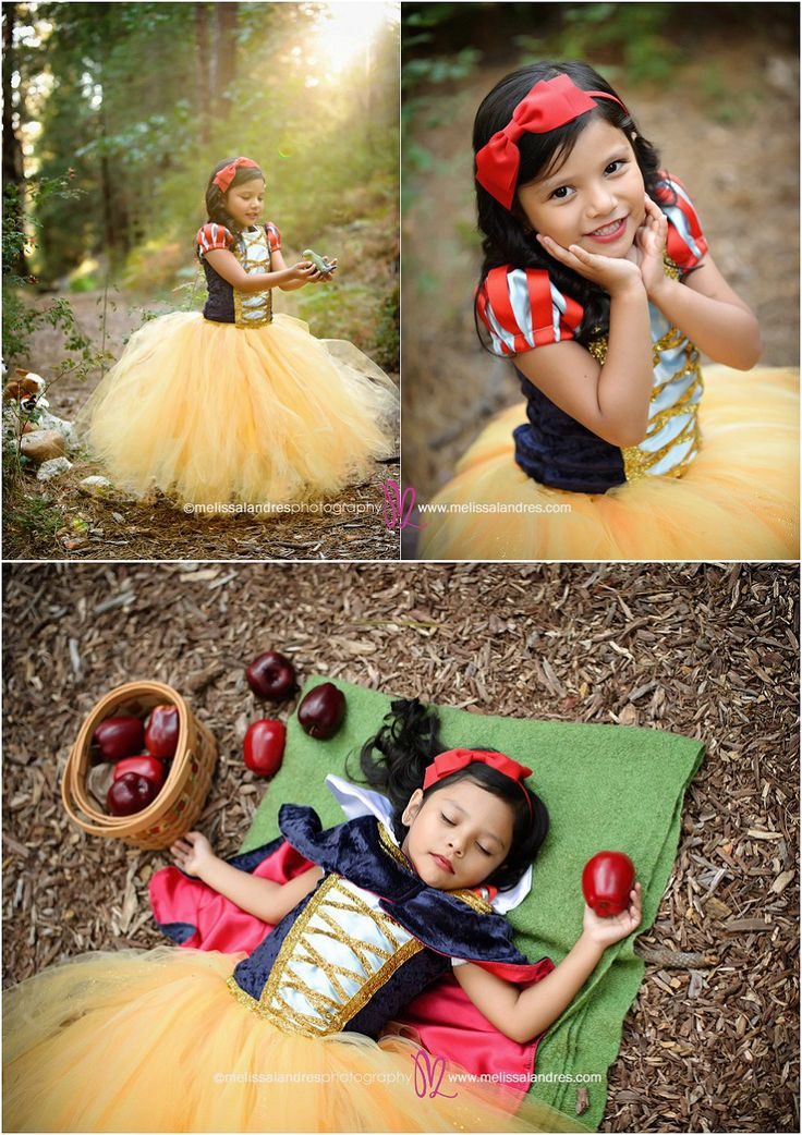 The most adorable Disney princess photo shoot ever!! You have to see the whole shoot - Snow White, Seven Dwarfs, even a Prince! © www.melissalandres.com // Melissa Landres Photography La Quinta