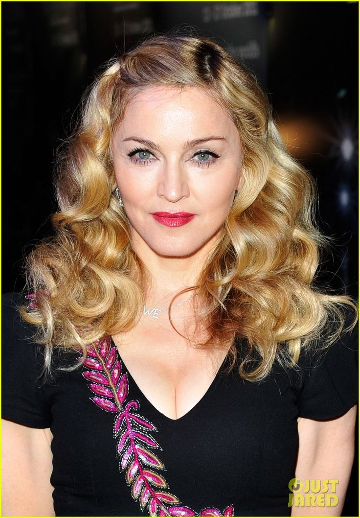 Love Madonna's hair here!