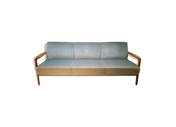Canapé lit daybed sofa scandinave danois années 50 60 convertible bleu