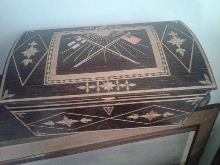 Rare Antique historical box, Finland and U.S.A.  1920 #VictorianColonialMilitary