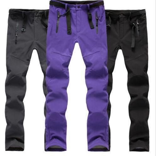 Womens Windproof Outdoor Skiing Trousers Climbing Fleece Trousers Sport Ski Pant