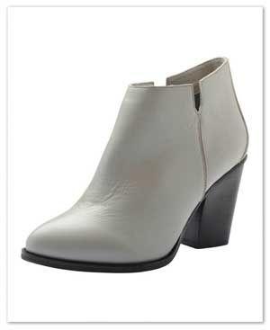 Bianco low leather #støvlette i grå   le-reve.dk