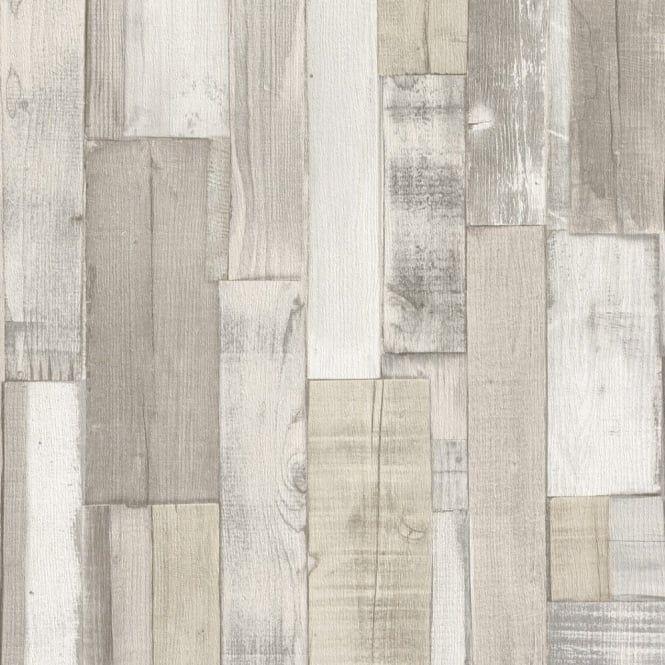 Rasch Rasch Factory Wooden Panel Beam Pattern Faux Effect