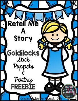 Story stick puppets and a Reader's Theater poem will engage and excite young readers to retell their favorite fairy tale! ELA  FREE
