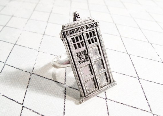 YAY! -->Tardis ring: Nerd, Doctorwho, Doctor Who Tardis, Box, Jewelry, Rings, Doctors, Dr. Who, Tardis Ring