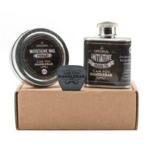 Valentines Gift For Him – Beard And Mustache Care Gift Set This is the first beard care kit designed for every day carry. Kit includes an Initiative Scent Beard Oil Flask, a can of Primary Mustache Wax and a custom wax lifter (guitar pick). Make your man's beard bearded man kissable soft.