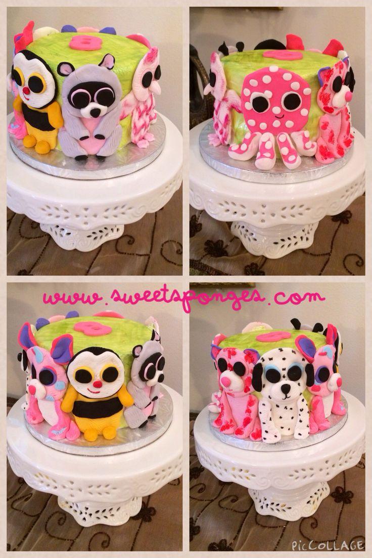 Cake Idea Names : Beanie boos cake www.sweetsponges.com Beanie boo cake ...