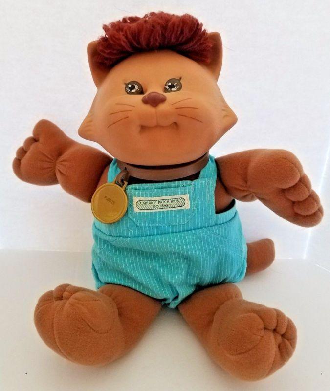 "Vintage Cabbage Patch Kids Koosas 15"" Top Muñeca Mascota Gato 1983 Xavier Roberts"