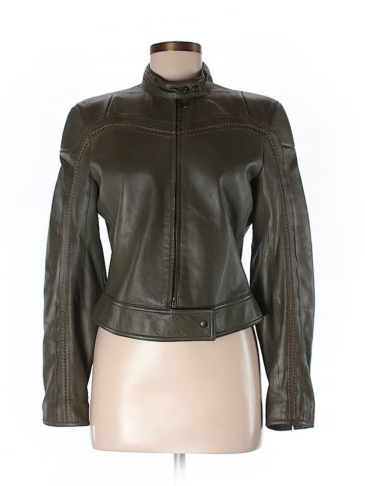 Check it out—Giorgio Armani Leather Jacket for $414.99 at thredUP!