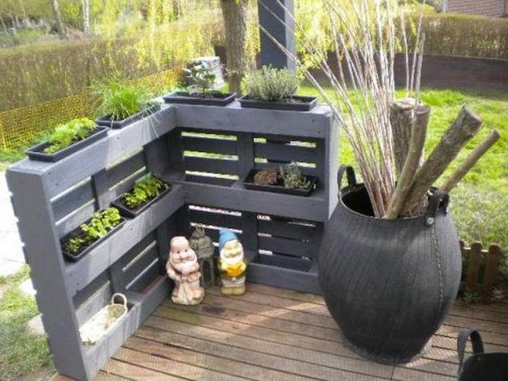 25 beste idee n over buiten projecten met palletten op pinterest buitenpallet - Idee decoratie terras ...