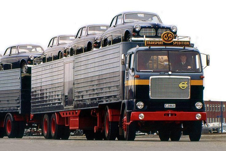 Volvo car transport.