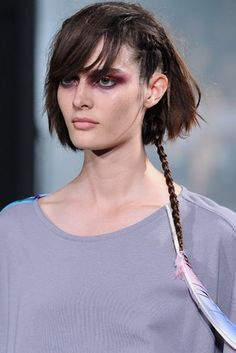 44 best rattail hairstyle images on pinterest mullet hairstyle messy bob hairstyle with braided tail and feather hair cliprat tail was so popular during the this edgy style will make a comeback urmus Image collections