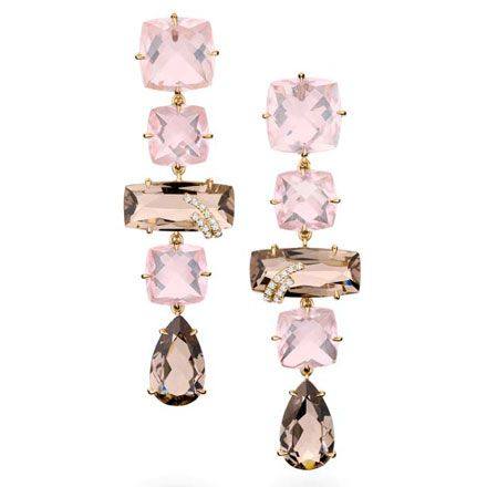 Brumani Earrings - love the brown and pink combination