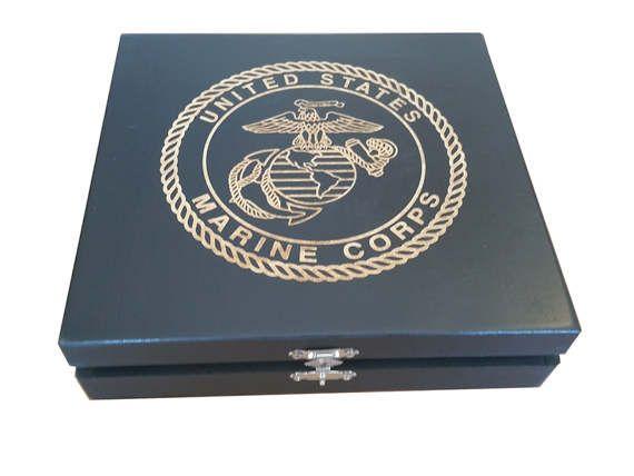 US Marine Corps  USMC  EGA Keepsake Box  Marine boot camp