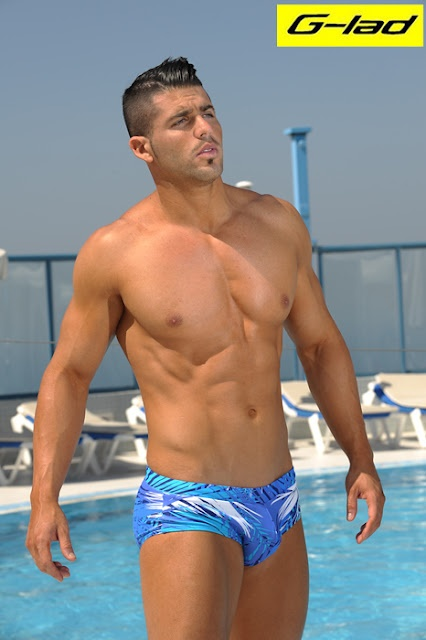 Men and underwear: New male swimwear collection by G-lad. For more men's brief swimwear at great prices check www.swimkinis.com #mens swimwear #speedos #mens togs