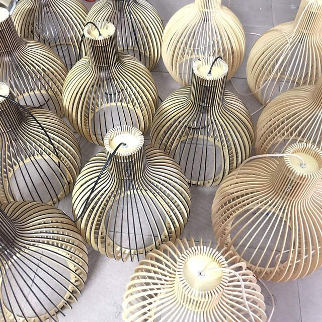 Online Shop Modern Black Wood Birdcage E27 Bulb Pendant Light Norbic Home Deco Bamboo Weaving Wooden Pendant Lamp Alie Anhanger Lampen Hangeleuchte Home Deco