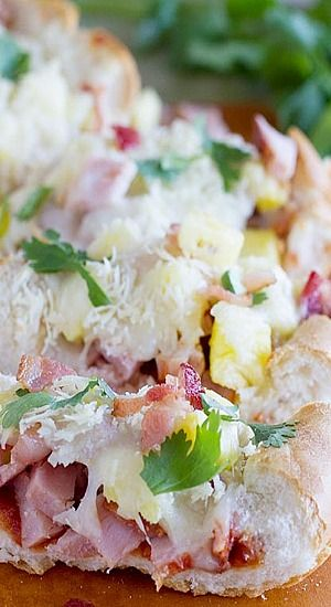 French Bread Hawaiian Pizza