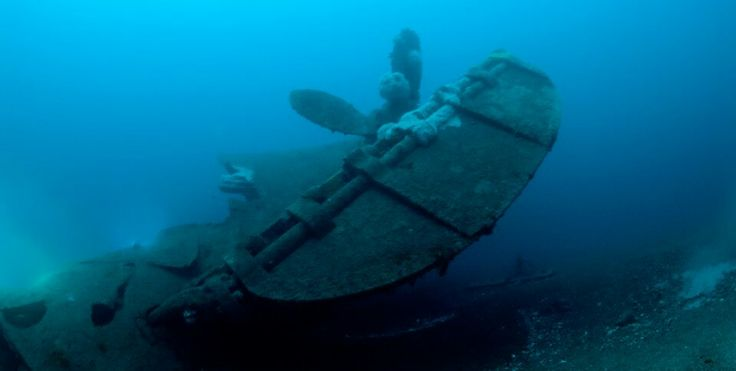 Hms Curacoa Stern She Sank After Being Ran Over By The