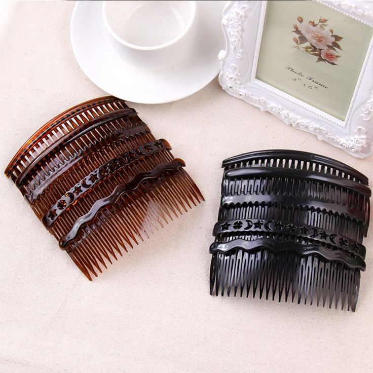 1PC New High Quality Simple Hairpins Vintage Elegance Hair Clip Black Combs Headbands For Women Hair Claw Woman Hair Accessories
