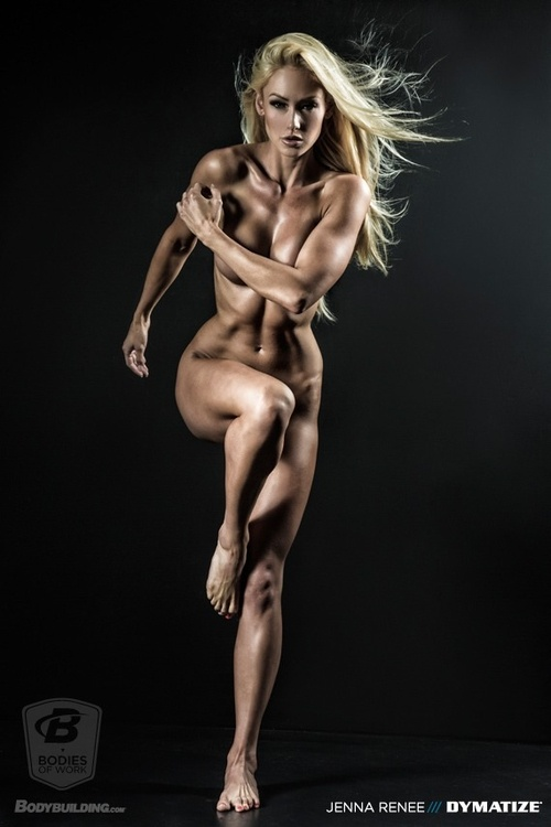 fitgirllivinginabikini:    She looks awesome! Loved these images they created of all the body builders.