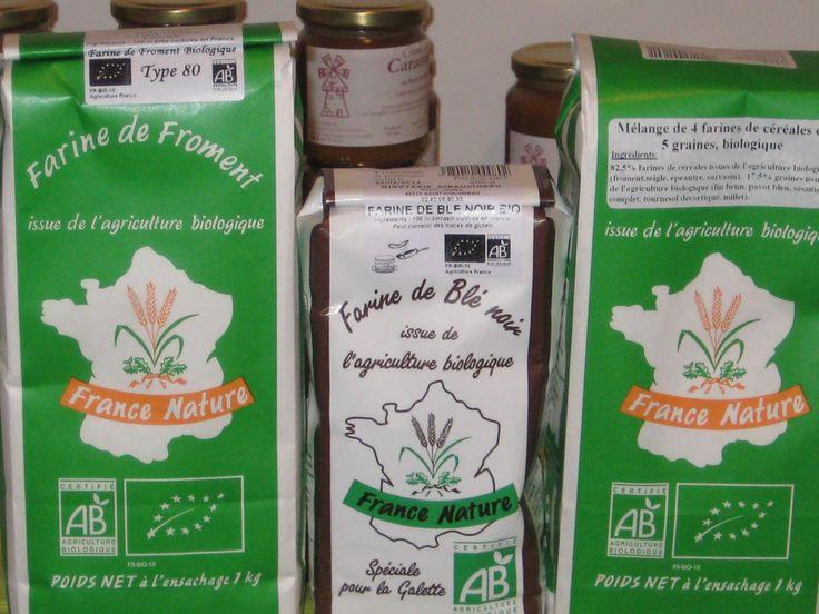 Farine de froment et blé noir bio ( loire atlantique)