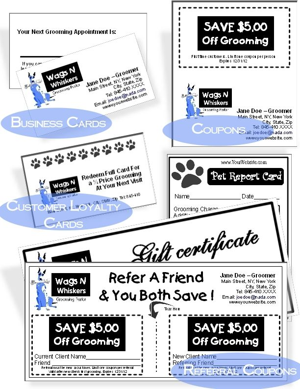 102 best Groomers Advertising Templates \ Ideas images on - referral coupon template