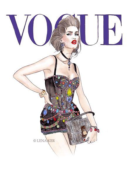 Fashion Book Cover Art : Lena ker fashion illustrator from russia fashionable