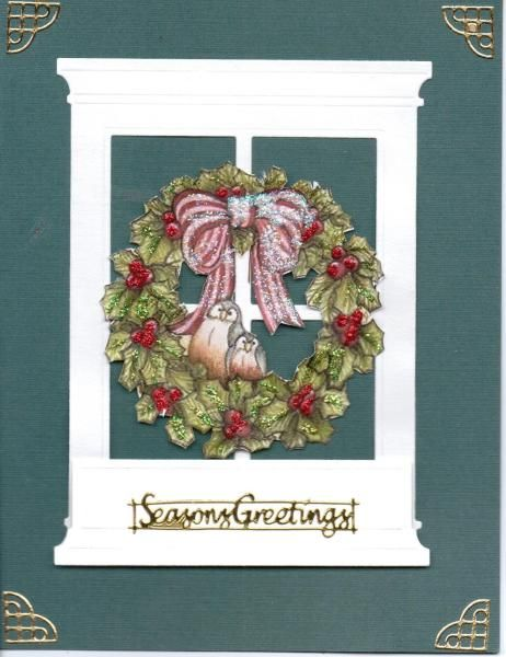 Neat look with wreath on window,