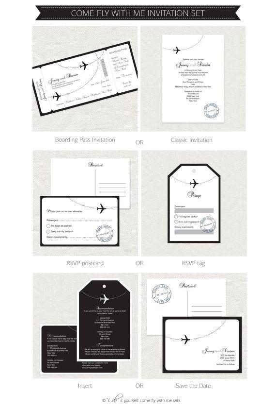 Printable wedding stationery set invitation suite door idoityourself