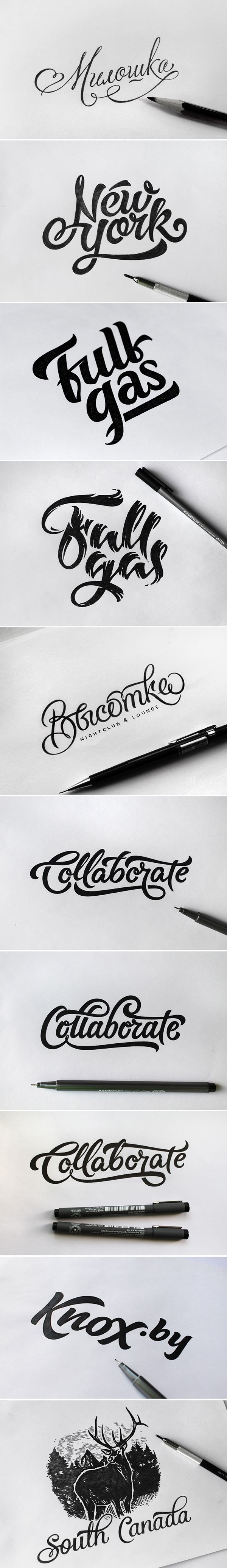 A whole collection of what look like logos. All I know is they look cool, and handmade.