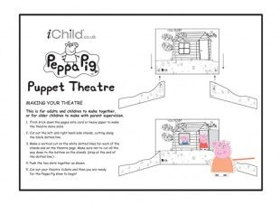 Make your own Peppa Pig puppet scenery and theatres, and create your very own puppet shows at home. This is our black and white version for the children to colour in and decorate themselves. Look out for our finger puppets of the characters, to use with this puppet theatre! Please ensure ALL cutting out is performed with an adult!