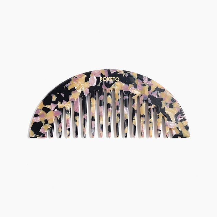 Eternally in Amber Arc Comb in Granite for Poketo