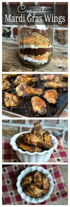 Publix Copycat Mardi Gras Chicken Wings | LemonyThyme.com | #copycat #mardigraswings #chickenwings