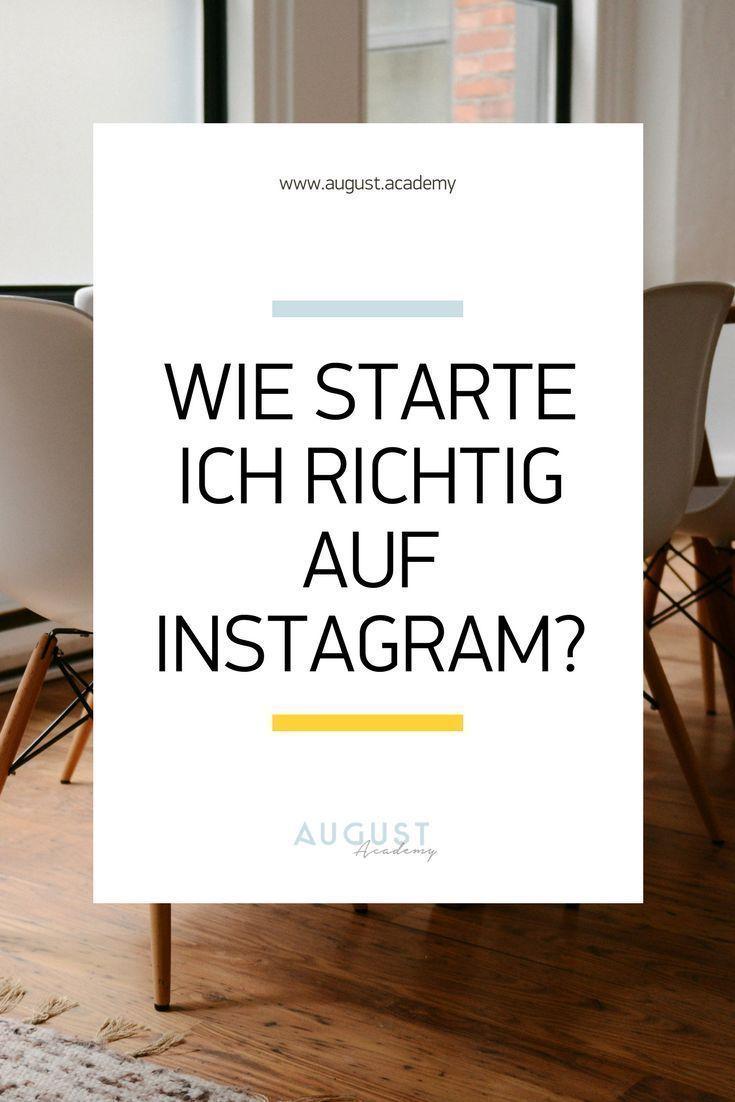 Auf Instagram starten: Tipps
