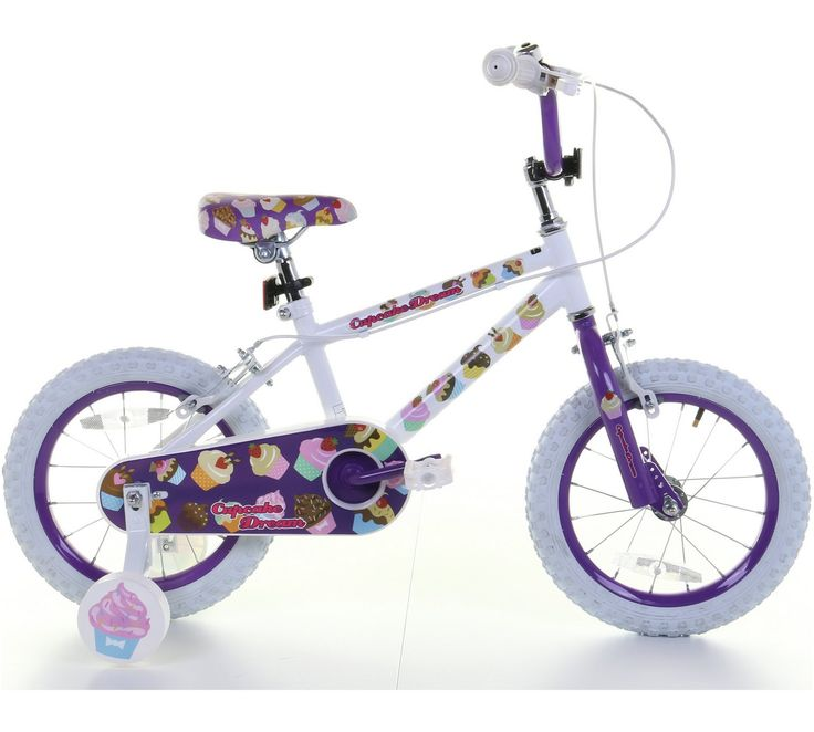 Buy 14 Inch Girls Bike - Cupcake Dreams at Argos.co.uk, visit Argos.co.uk to shop online for Children's bikes, Outdoor toys, Toys