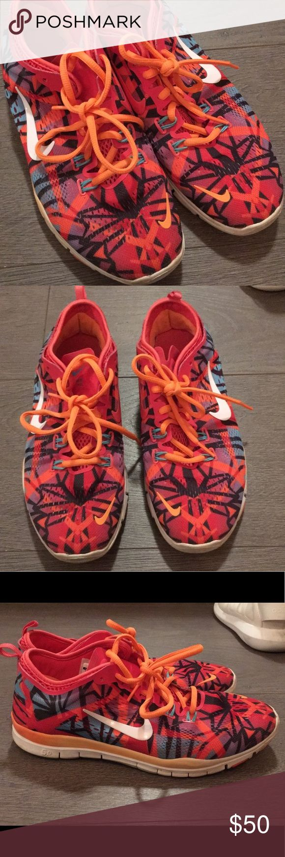 Nike Free Runners Great condition- minimal wear and tear to sole and insole. These are the perfect shoes for someone who likes to have a little fun, and show it! They are bright pink, orange, blue, and purple. Unique in their own right, these shoes are also very light and comfortable. Please note that ship times may vary as i am currently out of the country. Nike Shoes Athletic Shoes