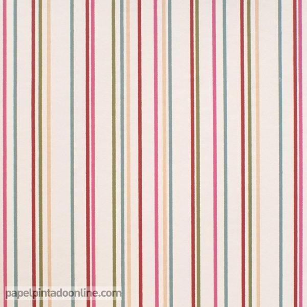 Papel pintado infantil lilleby 2657 de rayas verticales - Papel pintado rayas verticales ...