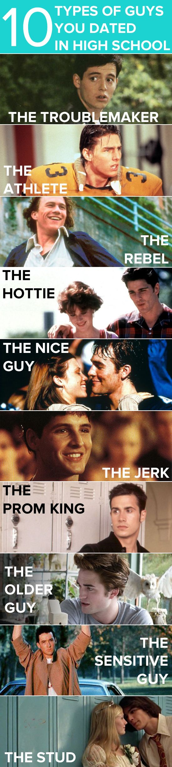 10 types of guys you either dated or crushed on in high school (as illustrated by movie boyfriends!)