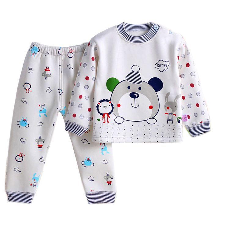 Bleu Pat 100/% coton Pyjama Ensemble pyjama V/êtements de nuit Pyjama b/éb/é gar/çon manches longues