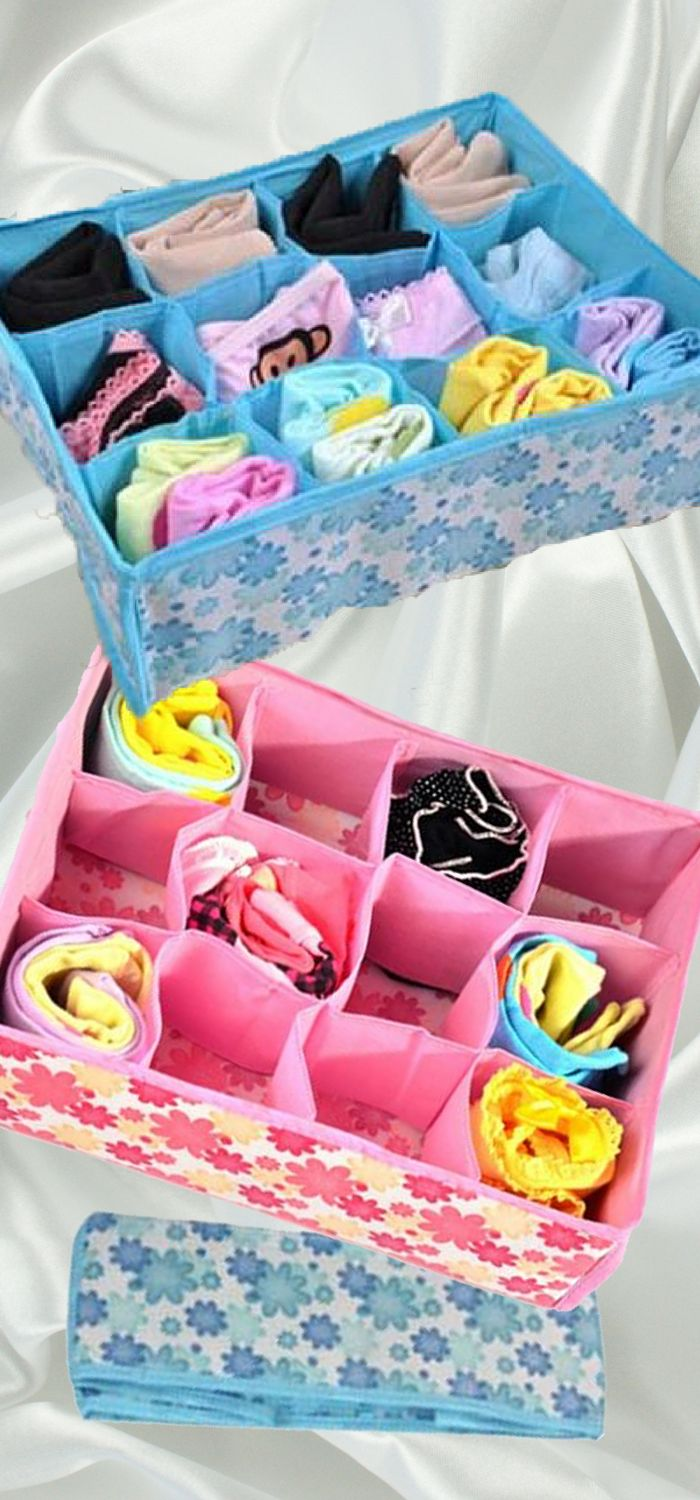 These portable storage boxes are ideal for organizing your bras,underwear, panties, socks, and ties. The dividers are strategically designed make organization simple yet efficient,saving you tons of space. Get yours today for less than $10 while supplies last. This special promotion ends on Sunday, January 3, 2016.