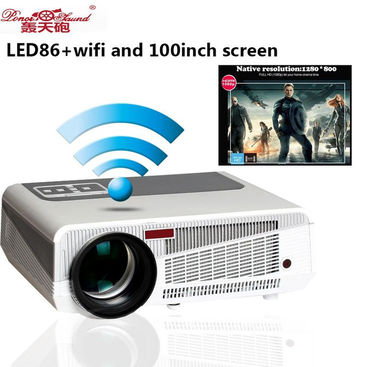 Hot selling Full HD Projector 5500 lumens LED Android4.4 Wifi Smart Multimedia video 3D Proyector Full hd for home theater