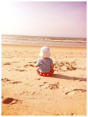 Baby's first beach trip