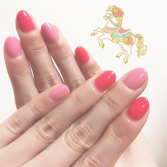 new nail❤💖✨ * #nail #newnails #selfnail #pink #pinknails #springnails #ネイル #セルフネイル #ピンク #ピンクネイル #春ネイル #ラプンツェル #千と千尋の神隠し #見ながら #ネイルした #千と千尋の神隠しは何回見ただろう #何度見ても面白い #ハクかっこいい #胸キュン