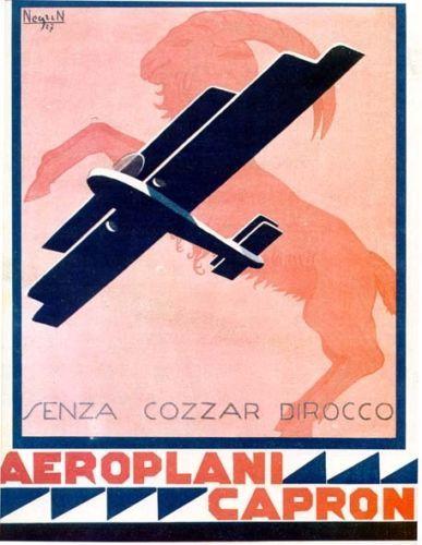 Gino-Negrin-AEROPLANI-CAPRONI-pubblicita-futurista-aerei-AVIAZIONE-1927