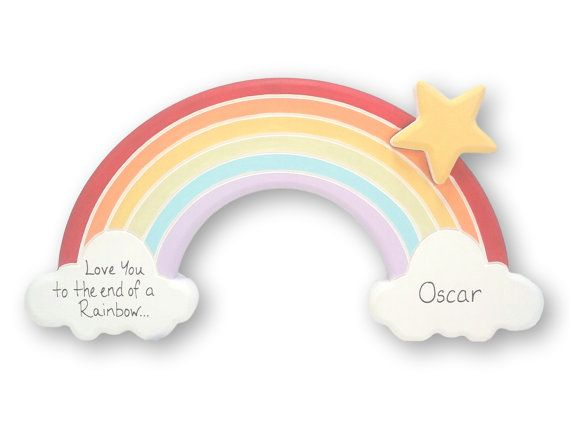 Rainbows and Kisses. Adorable Nursery and Baby Things  by Layla Oates on Etsy