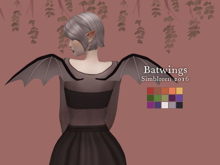 Nolan Sims here. Happy Simblreen! To celebrate, here is a batty number that your Sim is bound to thrill in! Also, I have included the PSD of the Simblreen Color Palette + Hex Codes I made for this...