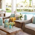 Mediterranean furniture style patio transitional with wicker furniture light blue