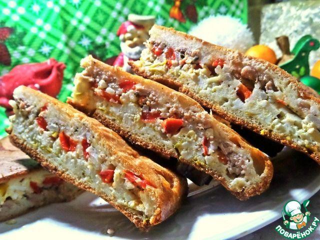 Заливной пирог с тунцом и сыром ингредиенты