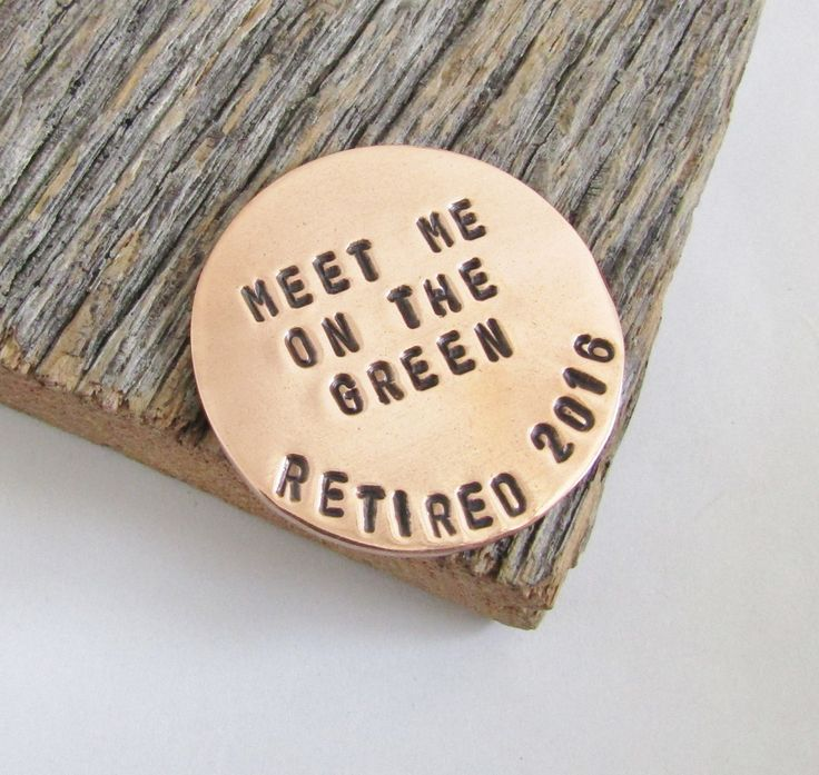 Retirement Gift for Men Retirement Party Dad Ball Marker Copper Retirement Gift for Women Retirement Party Retired Gift for Him Retiree Gift